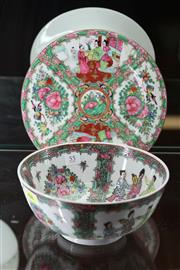 Sale 7998 - Lot 55 - Chinese Polychrome Bowl & Plate