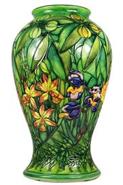 Sale 8057 - Lot 80 - Moorcroft Rainforest Vase by Sally Tuffin