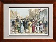 Sale 8325A - Lot 191 - J. Walters Wilson (XIX) - 'The Block' in Collins Street Melbourne, c1880 31 x 46.5cm