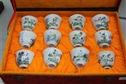 Sale 8324 - Lot 100 - Doucai Month Cups with Kangxi Marks