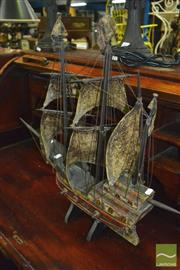 Sale 8380 - Lot 1074 - Model Ship on Stand