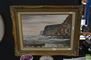Sale 8525 - Lot 2076 - Artist Unknown, Headlands, Oil,