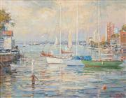 Sale 8583 - Lot 504 - Otto Kuster (1941 - ) - Neutral Bay - Sydney, 1997 39.5 x 49.5cm