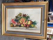 Sale 8771 - Lot 2087 - Artist Unknown - Still Life Fruit, oil on canvas, frame size: 90 x 120, unsigned