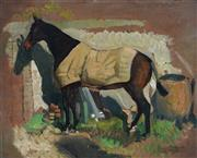 Sale 8907 - Lot 581 - J A Lambert (C20th) - Horse 32.5 x 40.5 cm