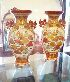 Sale 7360 - Lot 82 - A PAIR OF JAPANESE KUTANI VASES