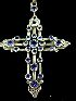 Sale 7358 - Lot 3 - A STERLING SILVER AND STONE SET CROSS.