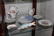 Sale 8151 - Lot 74 - Royal Crown Derby Posies Teapot with Other Ceramics incl. Noritake Fish