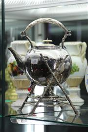 Sale 8189 - Lot 38 - Silver Tree Form Kettle