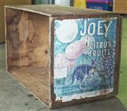 Sale 8319 - Lot 308 - Timber apple Joey apple box with kangaroo motif