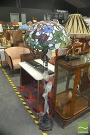 Sale 8331 - Lot 1093 - Leadlight Standard Lamp