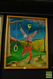 Sale 8458 - Lot 2070 - Hugo Kocken - The Scarecrow II, framed acrylic on board, signed