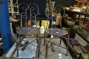 Sale 8563T - Lot 2302 - Pair of Metal Childrens Chairs