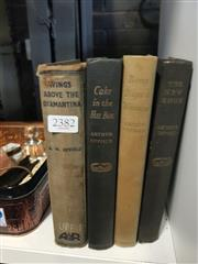 Sale 8659 - Lot 2382 - 4 Volumes by Upfield, A.W.  Wings above the Diamantina; Cake in the Hat Box; Bony Buys a Woman; The New Shoe