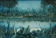Sale 8665A - Lot 5022 - Kevin Charles (Pro) Hart (1928 - 2006) - Swamp 24 x 34cm
