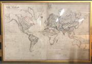 Sale 8710 - Lot 53 - Large Framed World Chart By John Purdy