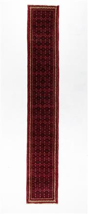 Sale 8800C - Lot 97 - A Persian Enjalis Hand Knotted Pure Wool Pile Village Weave, 75 x 490cm