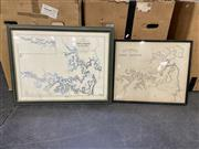 Sale 8990 - Lot 2077 - Maps (2): Survey of Port Jackson, New South Wales 1822 by John Septimus Roe hand-coloured engraving, published by Hydrographical O...