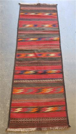 Sale 9102 - Lot 1151 - Pure wool hand knotted Kilim (232 x 76cm)