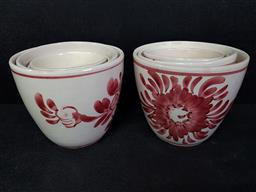 Sale 9254 - Lot 2240 - Collection of ceramic planters, some with chips