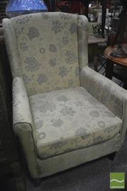 Sale 8326 - Lot 1249 - Green Fabric Armchair