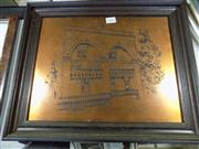 Sale 8413T - Lot 2004 - Vintage Copper Etching Of A Victorian House