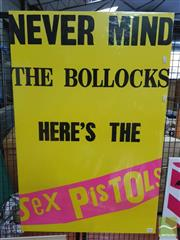 Sale 8421 - Lot 1044 - Vintage and Original Never Mind the Bollocks Heres the Sex Pistols Promotional Poster (95.5cm x 63cm)