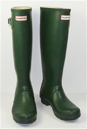 Sale 8460F - Lot 18 - A pair of classic green Hunter gumboots, UK 4, lightly worn