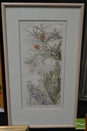 Sale 8495 - Lot 2013 - Edith Cowlishaw - Lobelia 55 x 26cm