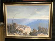 Sale 8981 - Lot 2039 - William R Mathewson Blue Mountainsoil on canvas 66 x 86cm (frame) signed lower right
