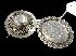 Sale 7358 - Lot 25 - TWO VICTORIAN STERLING SILVER PHOTO LOCKET BROOCHES.