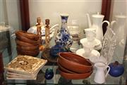 Sale 8189 - Lot 162 - Signed Art Glass Jug with Other Wares incl. Villeroy & Boch