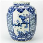 Sale 8221 - Lot 29 - Early Ching Dynasty Style Blue & White Temple Jar