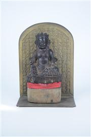Sale 8381 - Lot 89 - Bronze Buddha with a Character Background