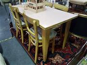 Sale 8601 - Lot 1065 - Retro Five Piece Dining Suite, Made in Krakow