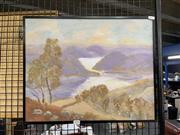 Sale 8924 - Lot 2095 - Artist Unknown - View of River Valley oil on canvas on board, 41.5 x 51.5 cm