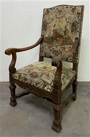 Sale 8972H - Lot 87 - Superb Antique French tapestry upholstered chair
