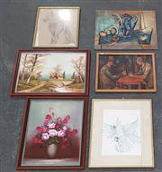 Sale 8973 - Lot 2085 - Large Group of Assorted Original Artworks and Decorative Prints