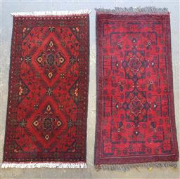 Sale 9102 - Lot 1033 - Pair of pure wool hand knotted Afghan Khal Mohammadi rugs (90 x 60cm)