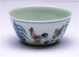 Sale 9144 - Lot 268 - Chinese Doucai chicken cup (Dia:8cm)