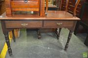 Sale 8331 - Lot 1326 - Two Drawer Hall Table