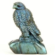 Sale 8372 - Lot 80 - Labradorite Hand Carved Figure of a Hawk