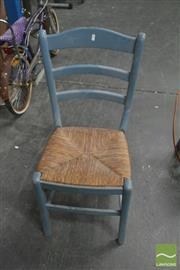 Sale 8386 - Lot 1055 - Set of 4 Rush Seat Dining Chairs