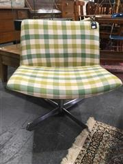 Sale 8769 - Lot 1017 - Green Chequered Occasional Chair