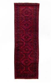 Sale 8800C - Lot 100 - An Afghan Baluchi Rug In Hand Knotted Wool, 103 x 353cm