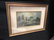 Sale 8841 - Lot 2074 - William Henry Rawthorn, On the Avon, watercolour, frame size - 44 x 60cm, signed lower right