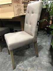 Sale 8912 - Lot 1031 - Set of 6 Latte Upholstered Dining Chairs