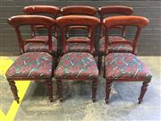 Sale 9017 - Lot 1093 - Set of 6 Mahogany Dining Chairs (H:93 X W:47CM)