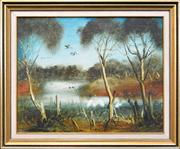 Sale 8254 - Lot 556 - Kevin Charles (Pro) Hart (1928 - 2006) - The Box Swamp 39 x 49cm