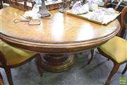 Sale 8326 - Lot 1721 - Round Single Pedestal Dining Table